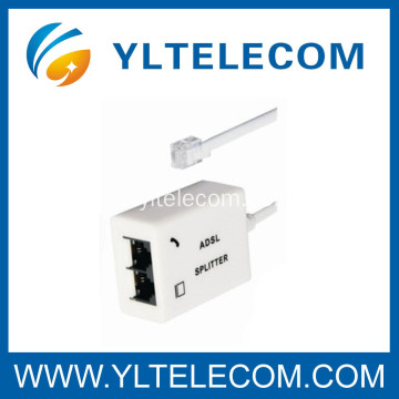 Doble puerto ADSL / VDSL Splitter Phone Splitter con cable de red